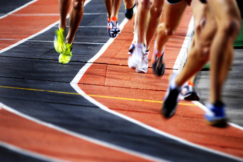 runners on a race track