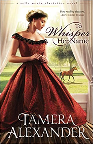 Book cover of young woman in a long red dress.